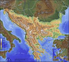Italy Mountains Map by Southeast Europe Wikipedia