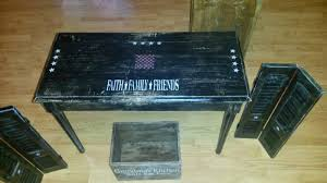 craft booth 555 old piano bench repurposed