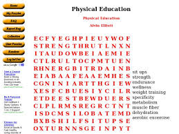 physical education word search 4th 6th grade worksheet lesson