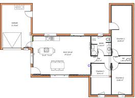 plan maison 3 chambre plan maison moderne plain pied 3 chambres wi75 jornalagora
