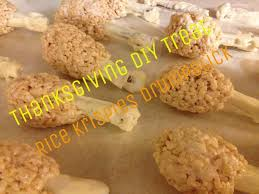 diy thanksgiving treat rice krispies drumsticks