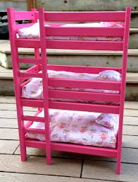 white girls bunk beds ana white triple doll bunk bed diy projects