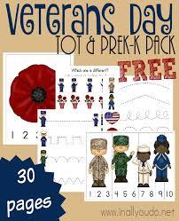 free veteran u0027s day printable pack learning free and kindergarten