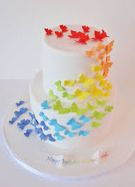 birthday cakes nj rainbow butterfly custom cakes grace