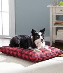 Ll Bean Dog Bed Pillow Dog Bed Plaid Free Shipping At L L Bean
