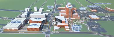 Map Of Cleveland Clinic Getting Here Le Bonheur Children U0027s Hospital