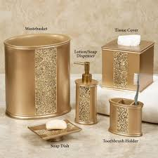 Glass Bathroom Accessories by Gold Cracked Glass Bathroom Accessories Bathroom Accessories