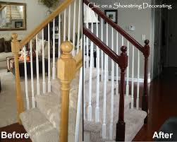 Replace Stair Banister Chic On A Shoestring Decorating How To Stain Stair Railings And