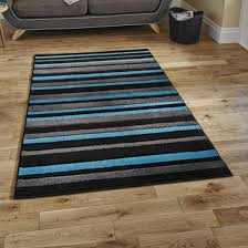 Modern Rugs Ltd Matrix Mt22 Black Blue Modern Rug