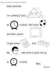 download english activity worksheet read aloud ketan s message to