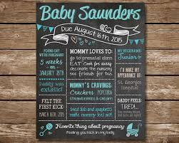 baby shower chalkboard custom baby shower chalkboard poster sign baby boy or baby