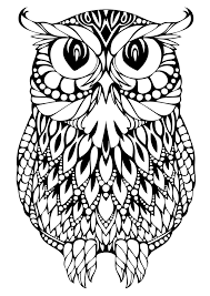 coloring page owl www bloomscenter com