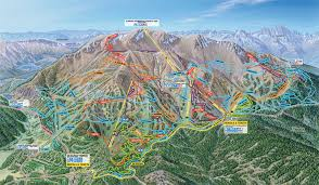 Utah Ski Resort Map by Mammoth Mountain Bike Terrain Park Trail Map Official