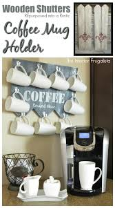 from wooden shutters to rustic coffee mug holder the interior