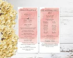 wedding programs diy diy wedding program etsy