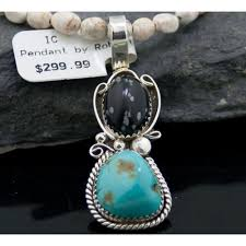 natural turquoise necklace images Rare handmade authentic navajo 925 sterling silver natural jpg