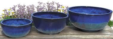 Low Bowl Planters by Modern Low Bowl Tt Pottery