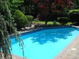 pool amazing backyard decoration using white metal pool chair