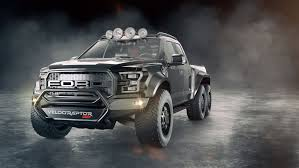 Ford Raptor Black - hennessey kicks the ford raptor up a notch with velociraptor 6x6