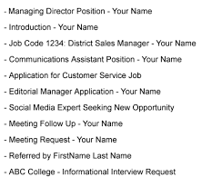 Emailing Resume Stunning What To Write In A Subject Line In Emailing Resume 31 For