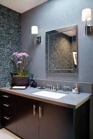 Cool Powder Rooms Cool Textured Grey Walls Bathroom Haammss
