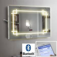 Bathroom Demister Mirror Bathroom Illuminated Led Mirror Bluetooth Speaker Shaver Demister