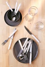 Flatware Sets by 12 Piece Marble Swirl Flatware Set Urban Outfitters