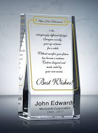 wedge retirement gift plaque diy awards