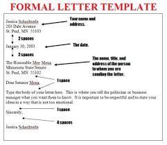 format formal letter writing letter format 2017