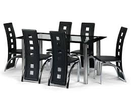 Black Glass Extending Dining Table 6 Chairs Kitchen Amusing 6 Seat Kitchen Table 6 Person Dining Table
