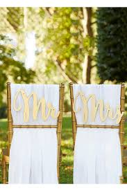 Bride And Groom Chair Signs Gold Mr And Mrs Sweetheart Table Sign David U0027s Bridal