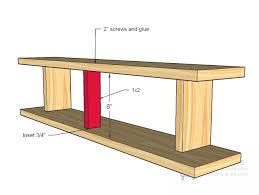 Free Wooden Shelf Plans by Ana White Plane Old Shelf Diy Projects