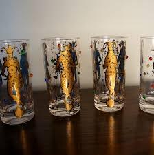mardi gras glasses vintage culver glassware mardi gras pattern 22k gold jester