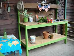 Wood Plank Shelves by Amusing Potting Bench Design With Sink Ideas Exterior Segomego