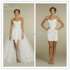 lace cocktail dress convertible wedding dress mini bridal dress