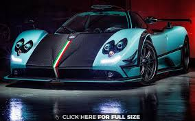 blue pagani pagani zonda rs hd wallpaper