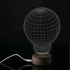 muqgew bulb digital style unique design 3d unique lighting effects