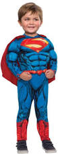 3t Boy Halloween Costumes Superman Chest Muscle Fiber Fill Boys Halloween Costume Toddler