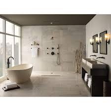 black faucets dt60275bl odin shower faucet trim trim kit matte black at