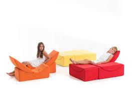 divanetto bambini divanetto imbottito modulare design pop in tessuto per