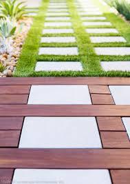 ipe wood deck stepstone pavers contemporary landscape