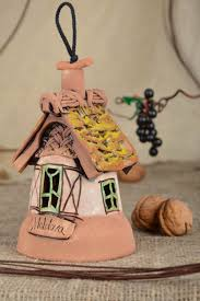 Handmade Decor For Home by Madeheart U003e Handmade Clay Bell In The Form Of House Eco Friendly