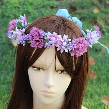 hippie flower headbands hippie flower garland crown wedding hair wreath