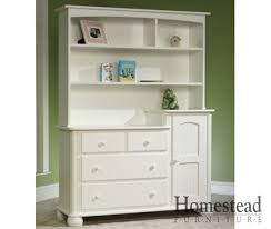 Changing Table Furniture Cottage Changing Table With Hutch Homestead Furniture