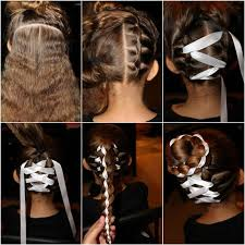 ribbon ponytail how to diy braided bun with ribbon hairstyle