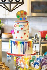 25 art party cakes ideas art birthday cake