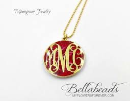monogram pendant flower petal jewelry cremation pendant memorial gifts flowers