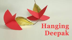 how to make door hangings for diwali deepak design paper garland