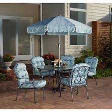 6 Piece Patio Set by Mainstays Willow Springs 6 Piece Patio Dining Set Blue Seats 5