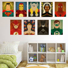 superhero home decor movie superheros canvas painting home wall decor cartoon